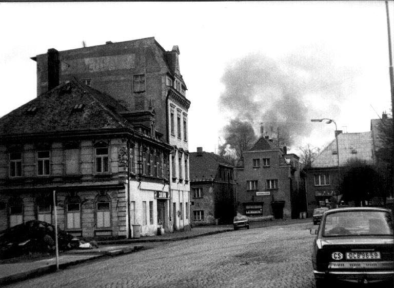 Požár Šluknovského zámku 2. 4. 1986
