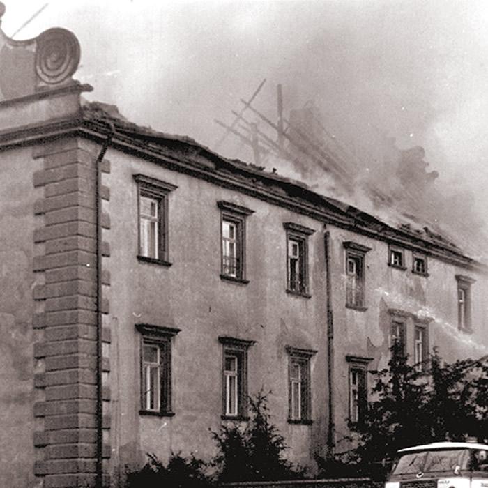 požár Šluknovského zámku